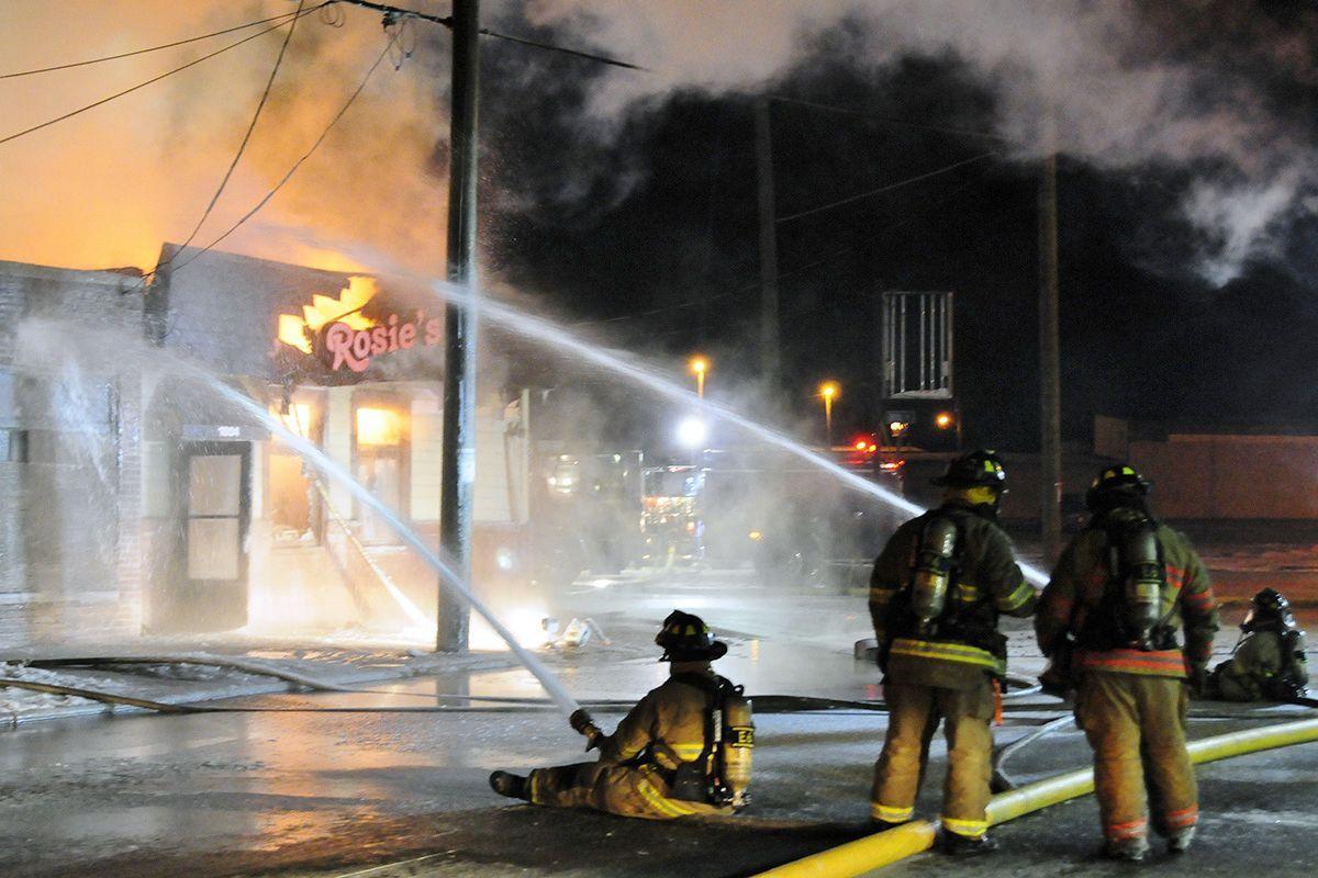 Fire at Rosie's diner