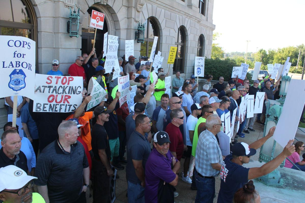 City employees protest, Sept. 16