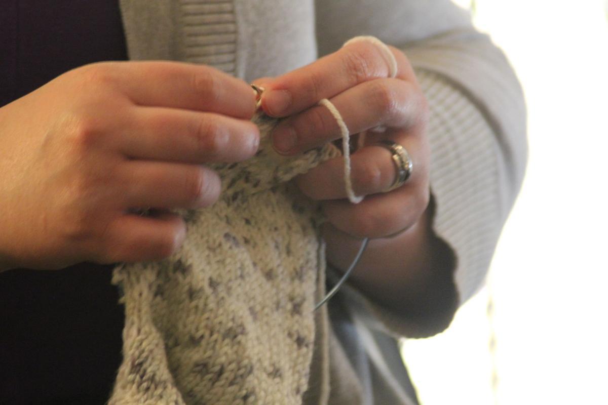 Knitting and organizing