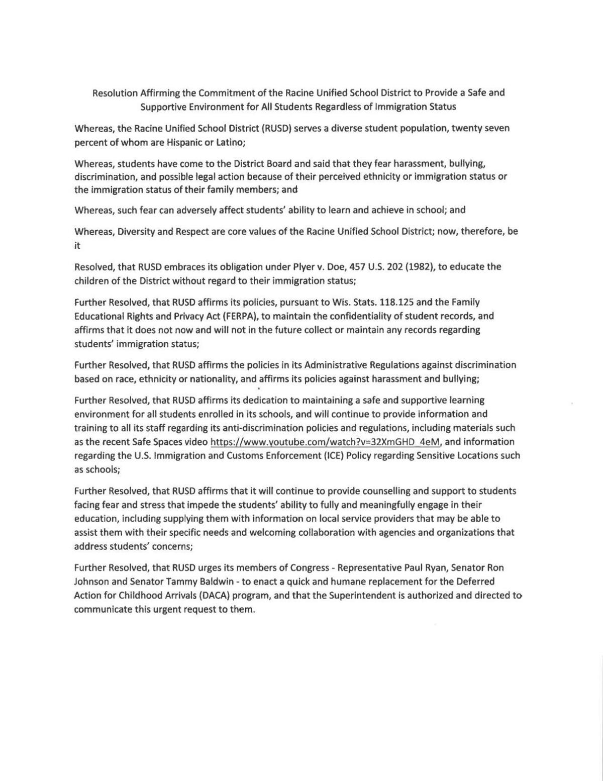 Resolution Attached To Daca Letter   JournaltimesCom