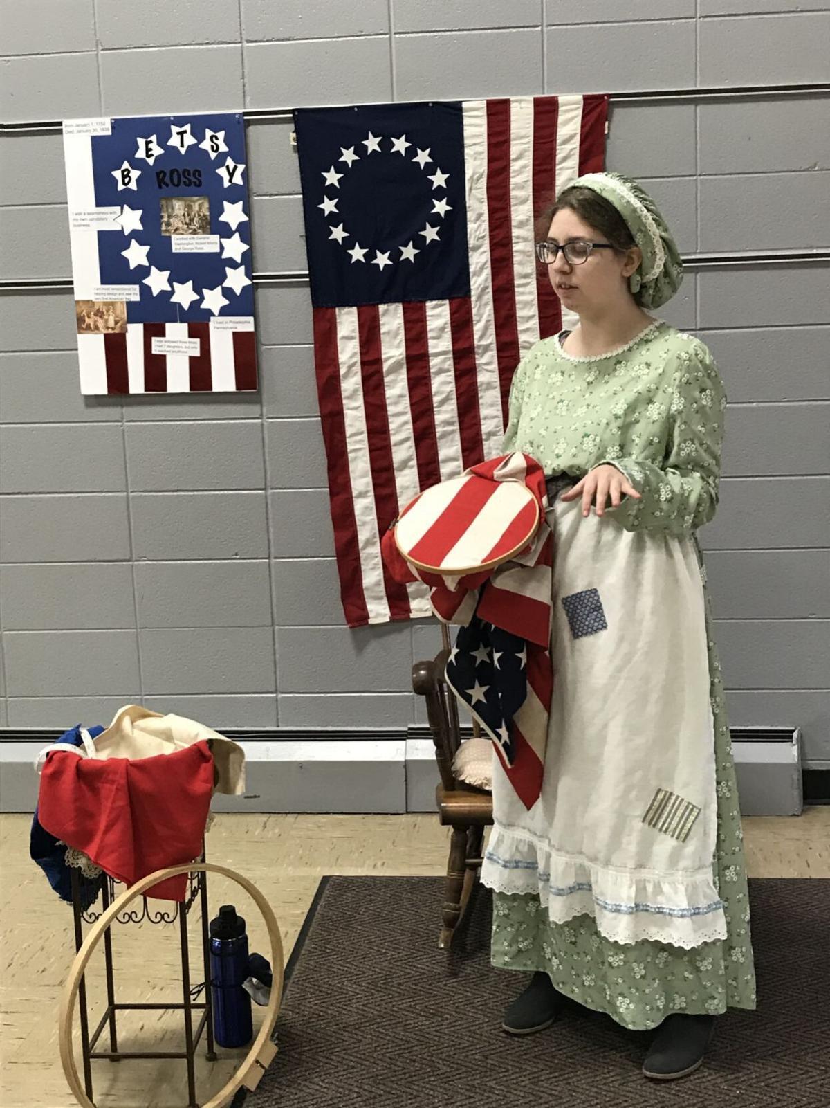 Abby English as Betsy Ross