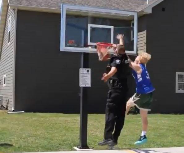 Officer gets dunked on