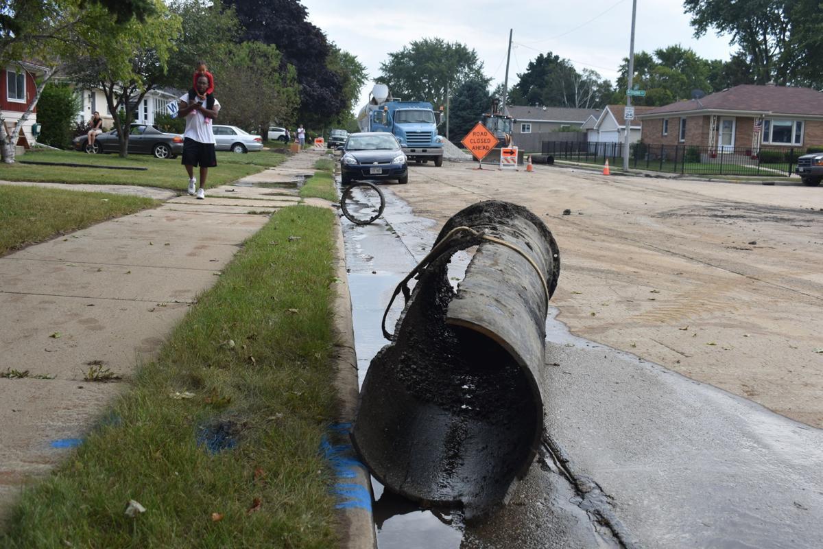 Hamilton Avenue water main break