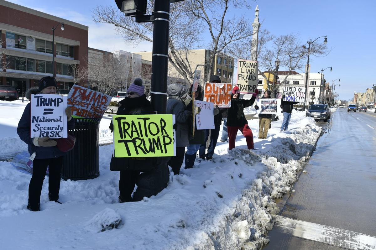 Protesters on Main Street