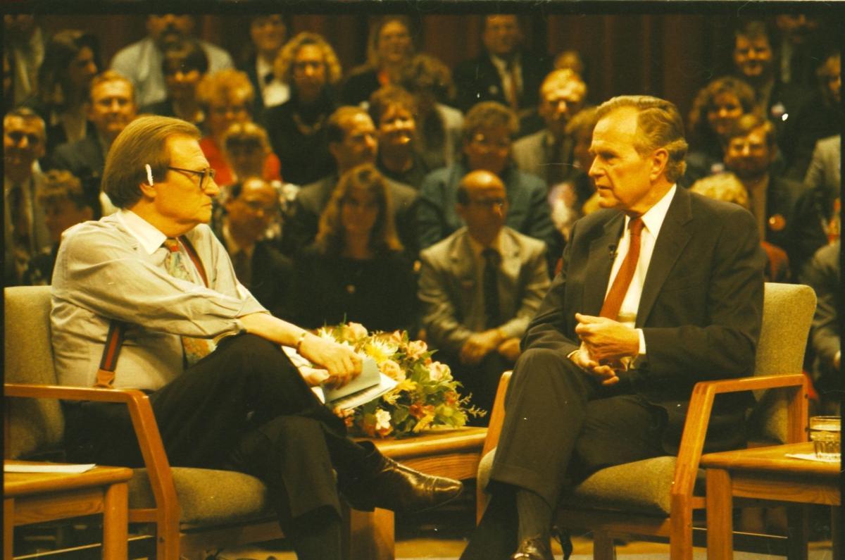 George H.W. Bush at Memorial Hall