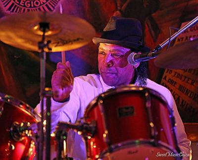 Roy Edwards on drums