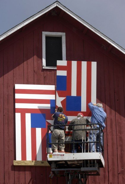 Installation for Quilts on Barns