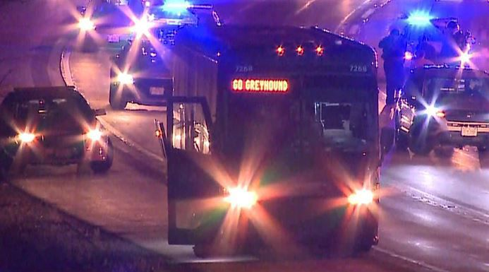 Bus incident on I-94