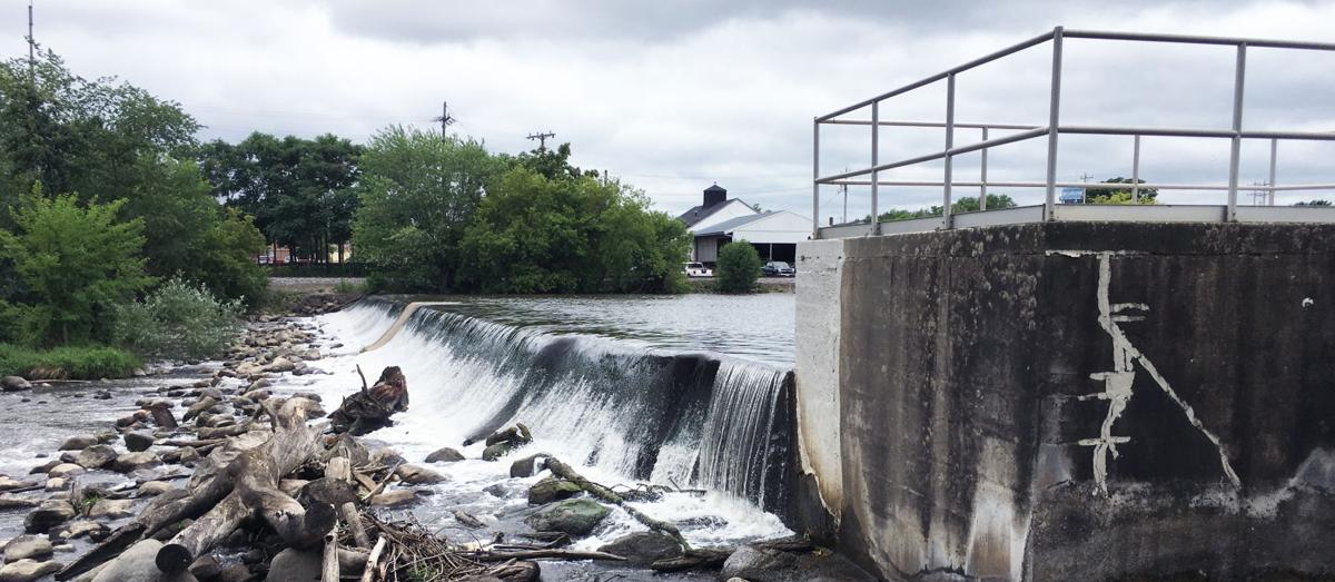 Dam at Echo Lake in Burlington is 300 feet long across the White River