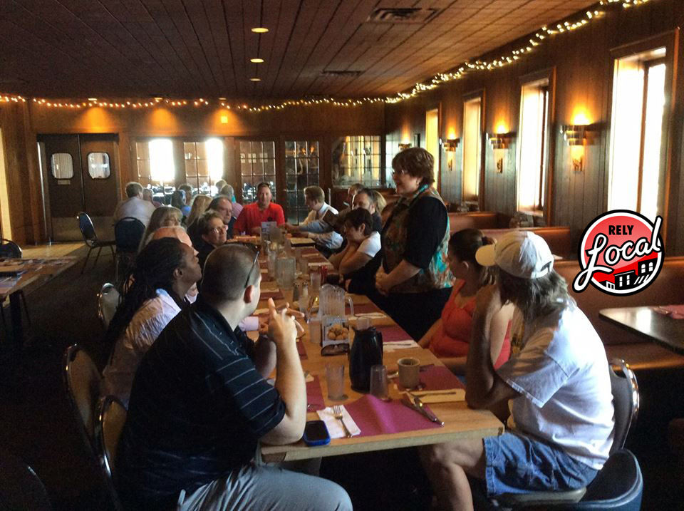 RelyLocal Networking Lunch at Rocky Rococo Kenosha