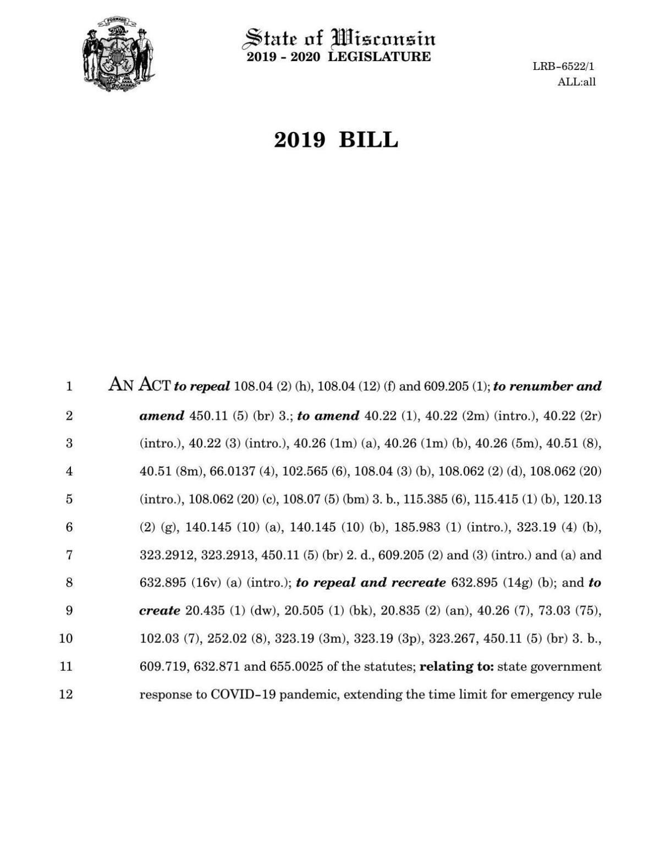 Evers COVID bill draft
