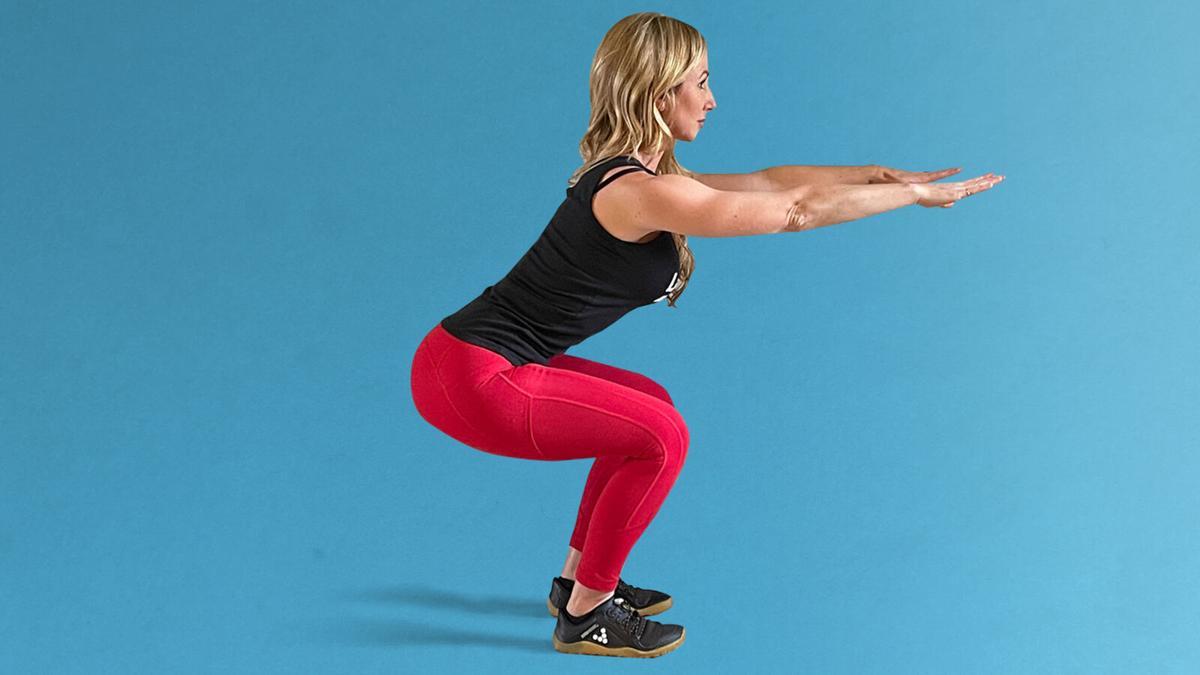 Body-weight squat
