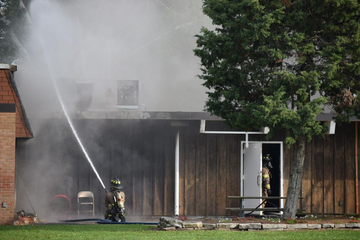 Fire at the Lakeview Community Center