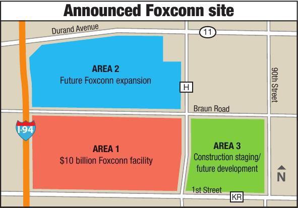 Announced Foxconn site