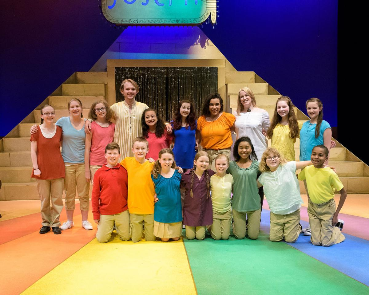 The cast of Joseph and the Amazing Technicolor Dreamcoat