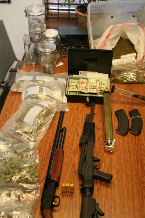 search warrant recovers five pounds of marijuana