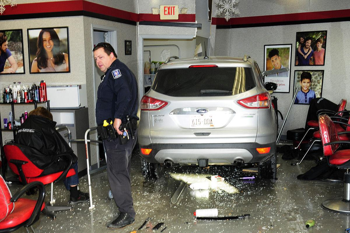 Car Crashes Into Cost Cutters Crime And Courts Journaltimes