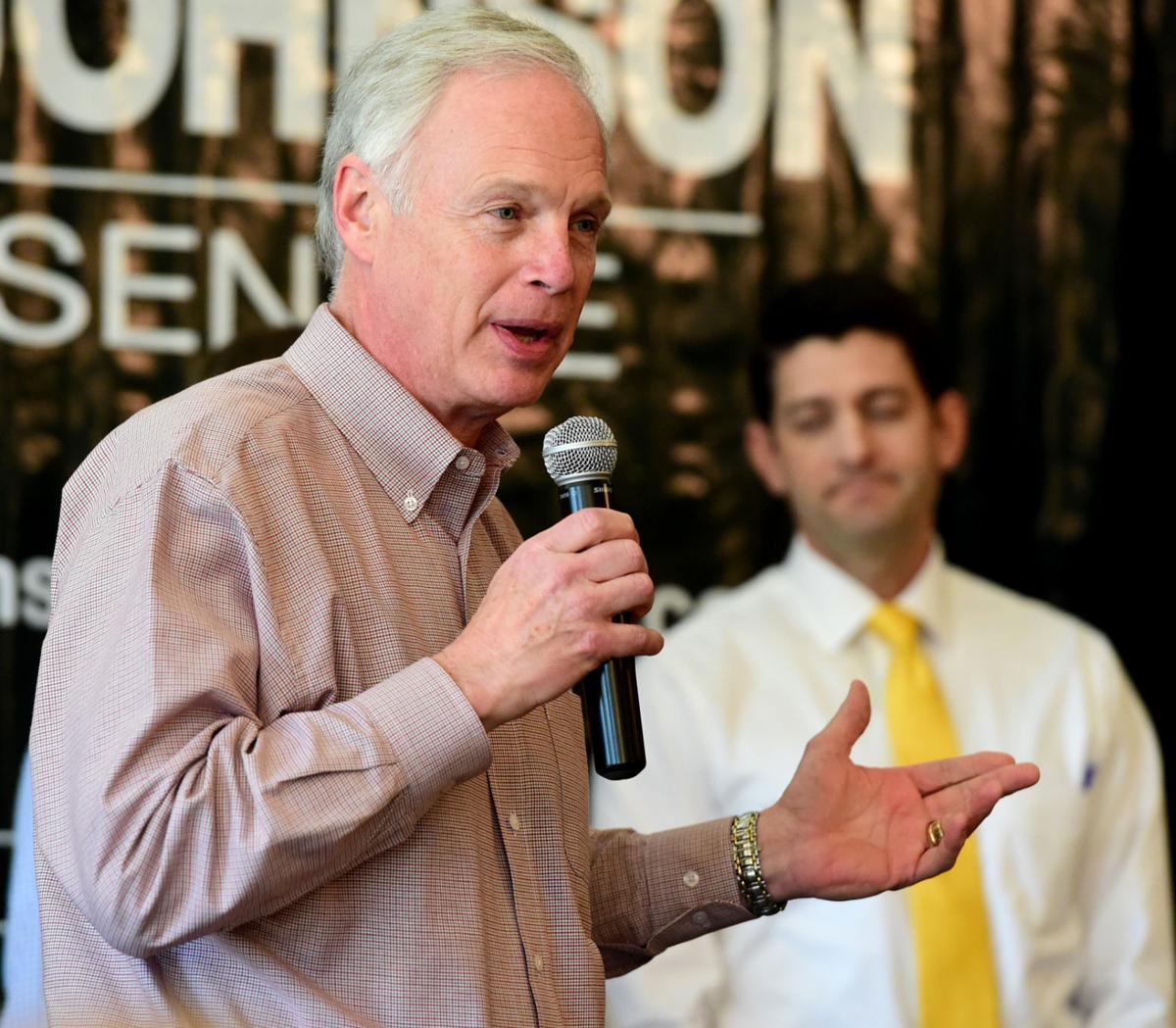 Johnson and Ryan Campaign in Burlington