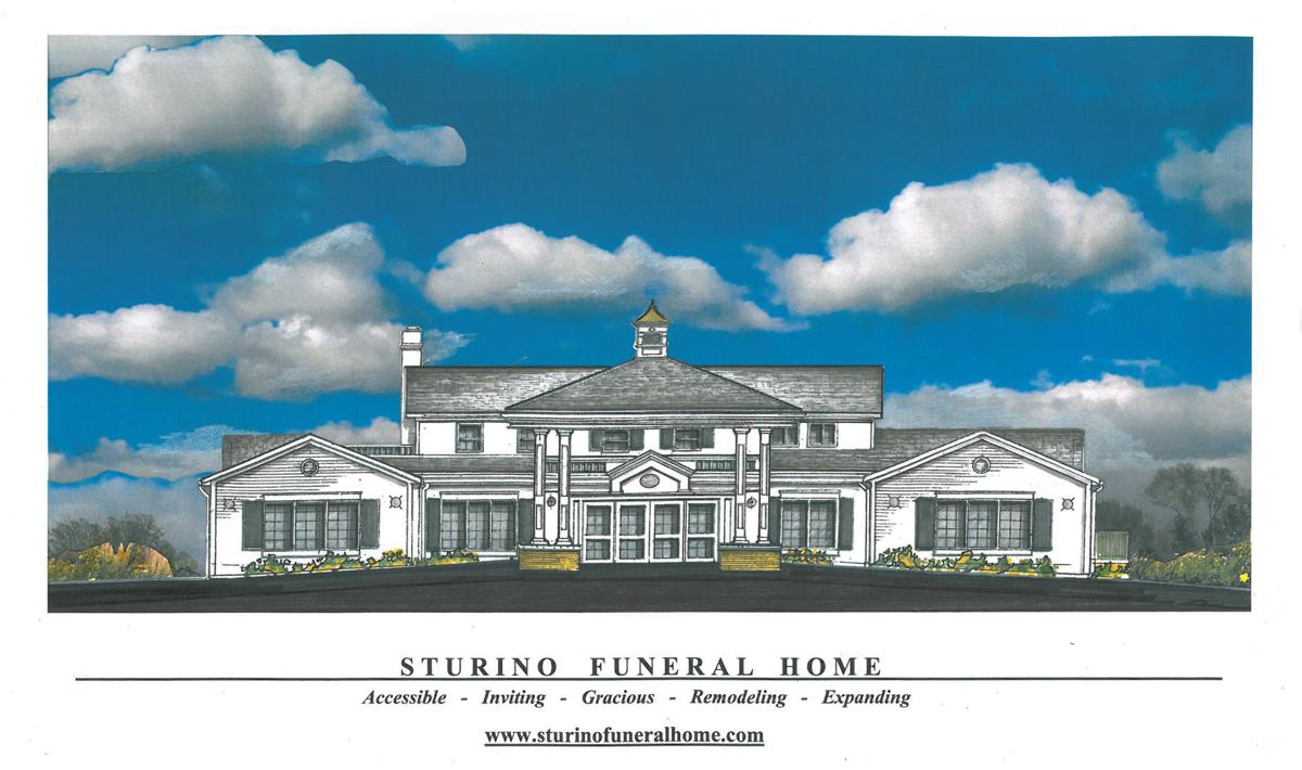 Sturino funeral home plans 1 200 square foot expansion for Funeral home blueprints