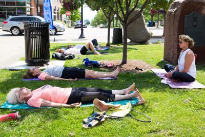 Yoga on Monument Square