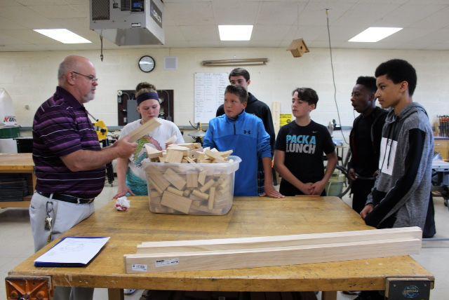 Racine Lutheran High School Woodworking Class Creates Wooden