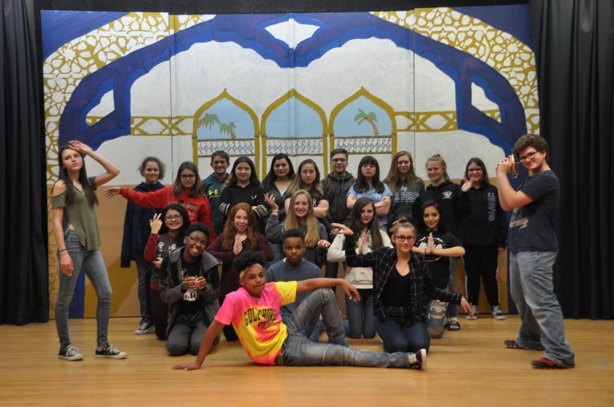 Cast and crew of Aladdin Jr.