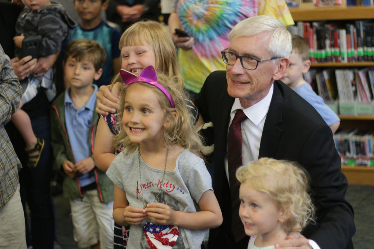 Evers reads at Burlington Library