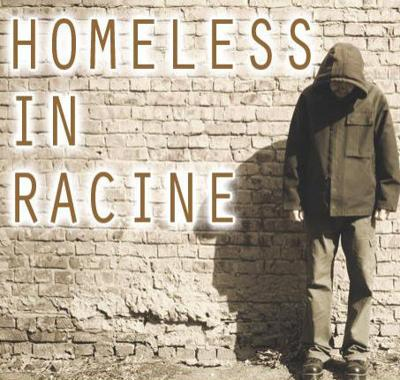 Homeless in Racine stock image