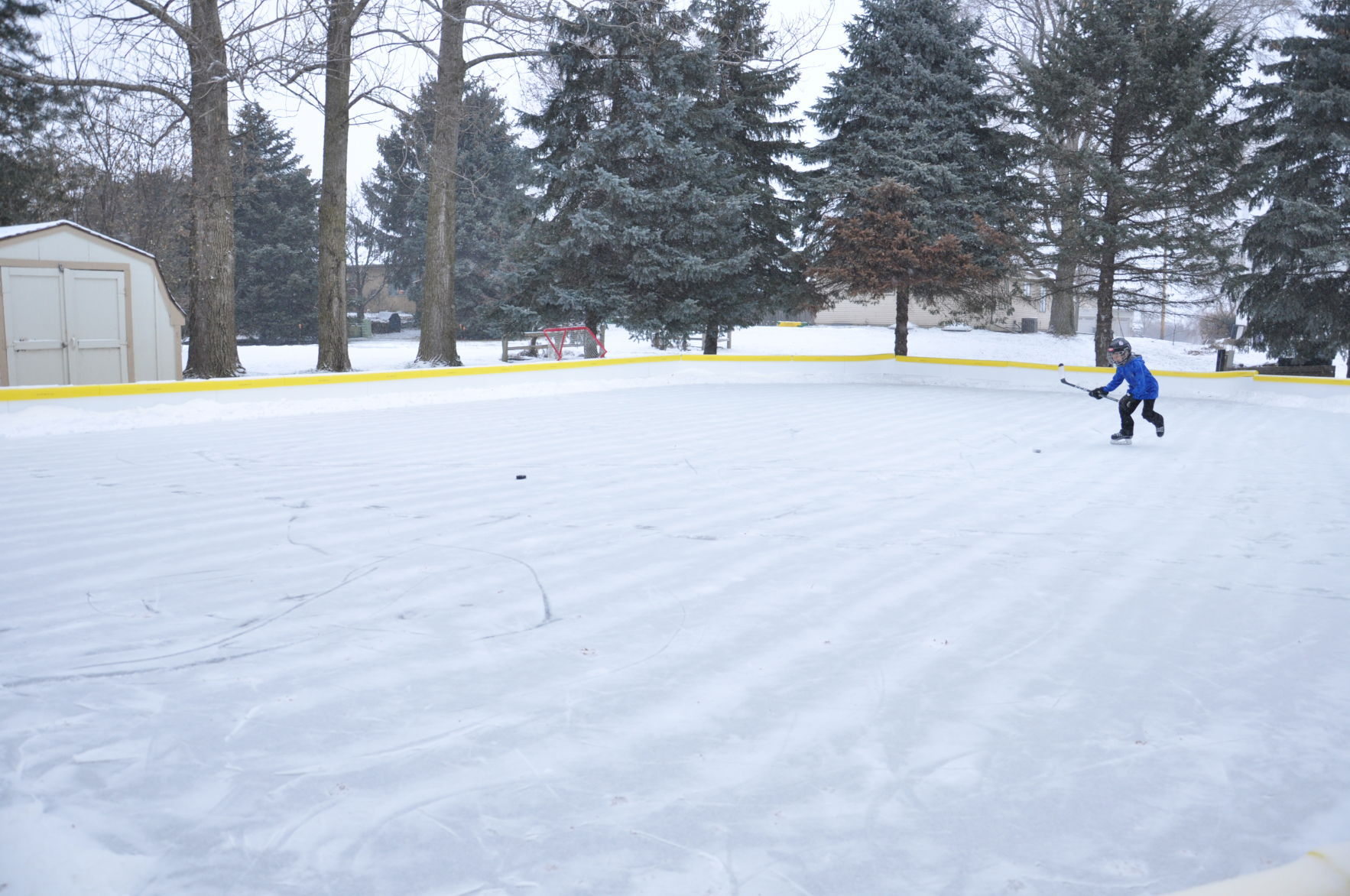 Love Of Hockey Inspires Father To Build Backyard Rink