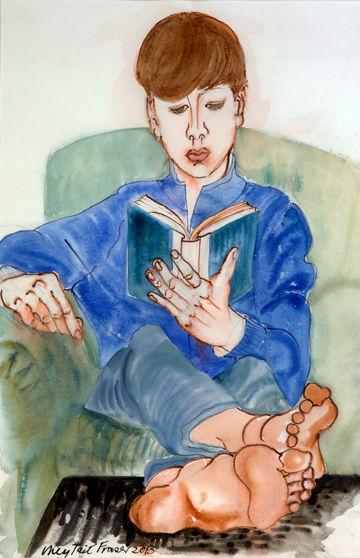 'Boy Reading'