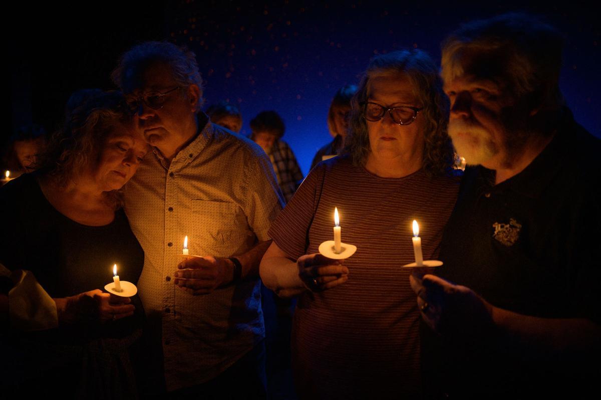 Candlelight vigil scene