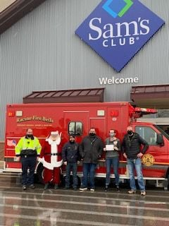 Sam's Club employees and Racine Fire Bells