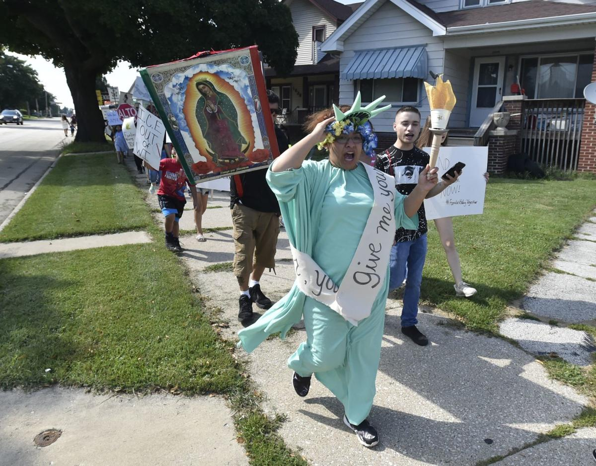 Immigration march in August