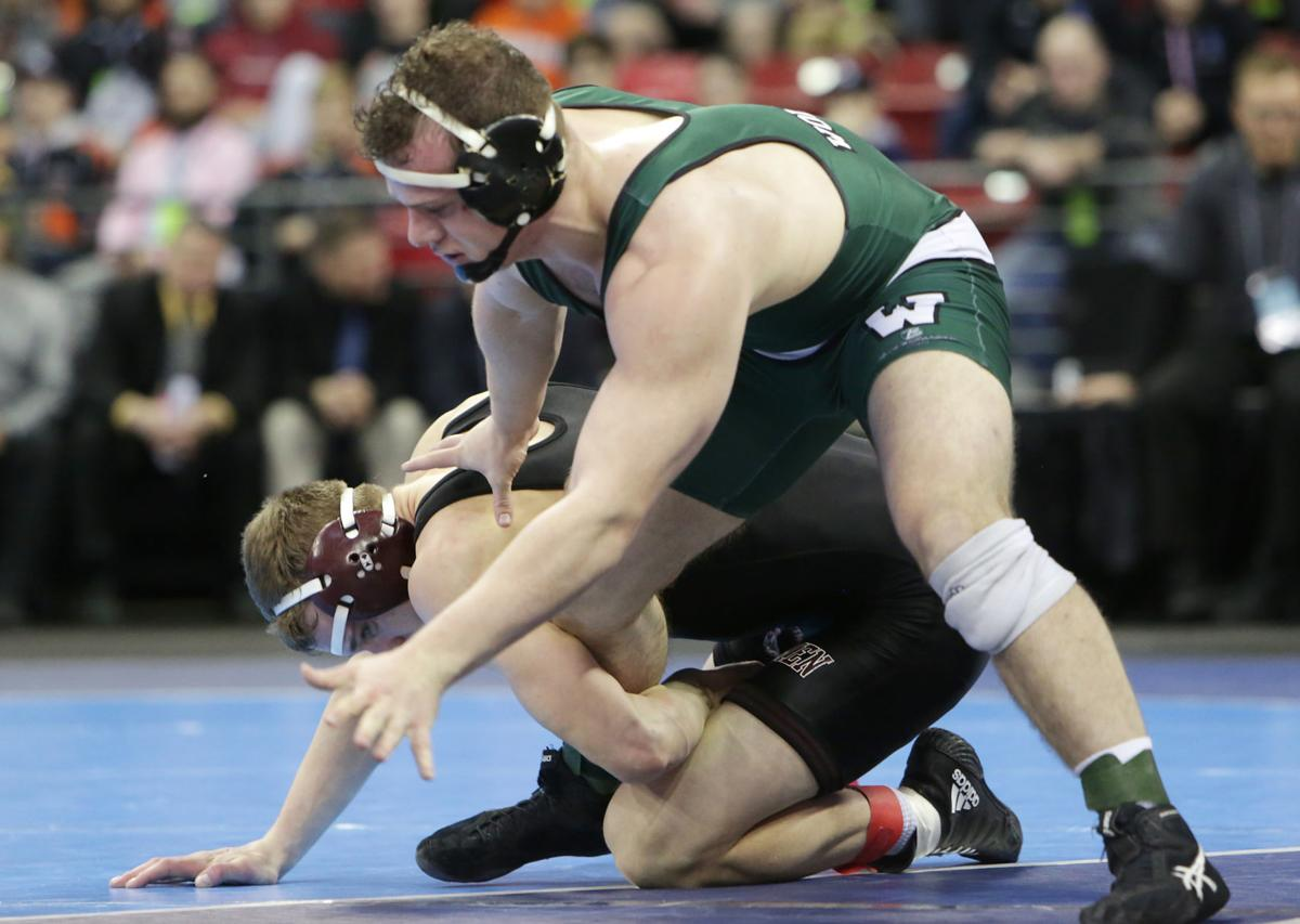 Jared Krattiger 2018 WIAA state wrestling