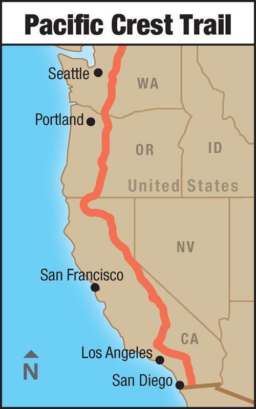 Pacific Crest Trail map WEB | | journaltimes.com