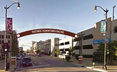 Downtown Racine archway