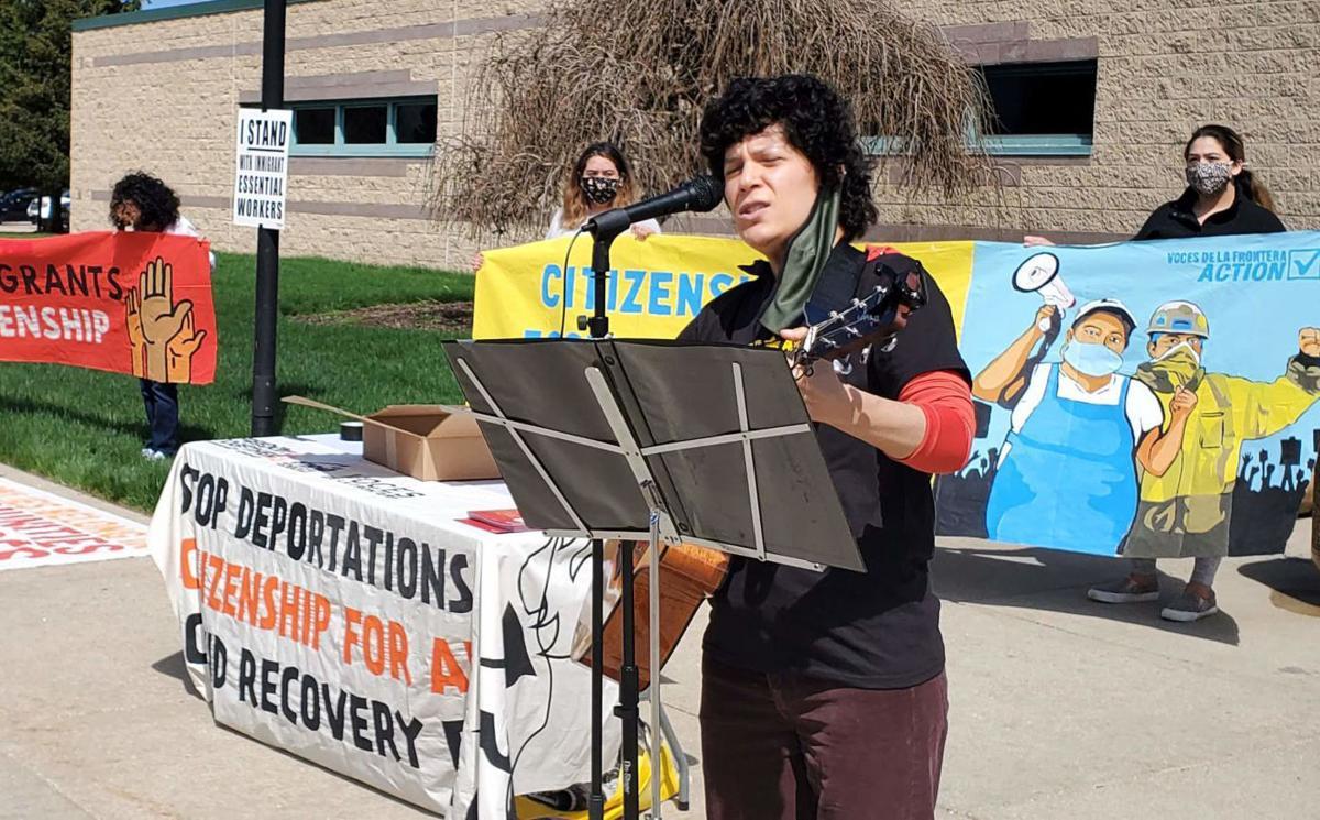 Immigration rally at Kenosha County Detention Center