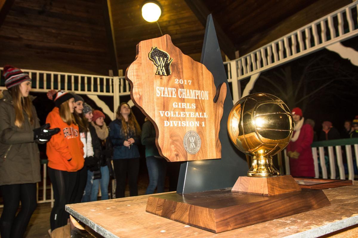 Burlington salutes girls volleyball team's title