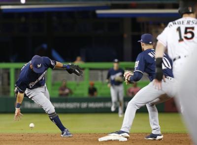 Brewers Marlins Baseball