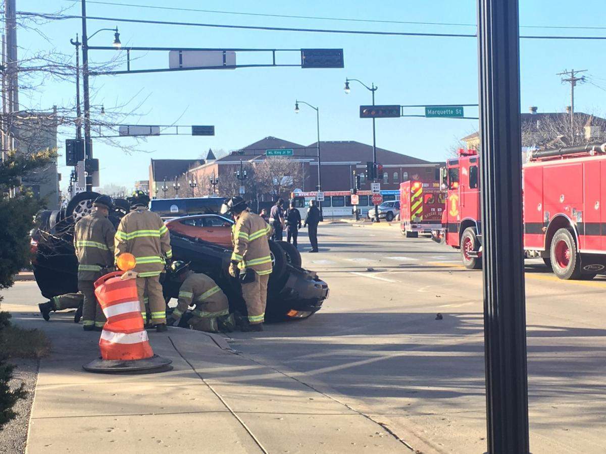 Rollover at Marquette and State streets