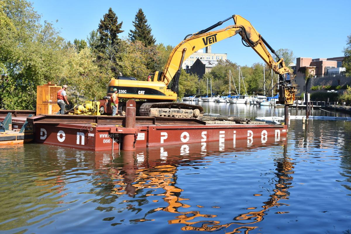 Dock removal, Root River