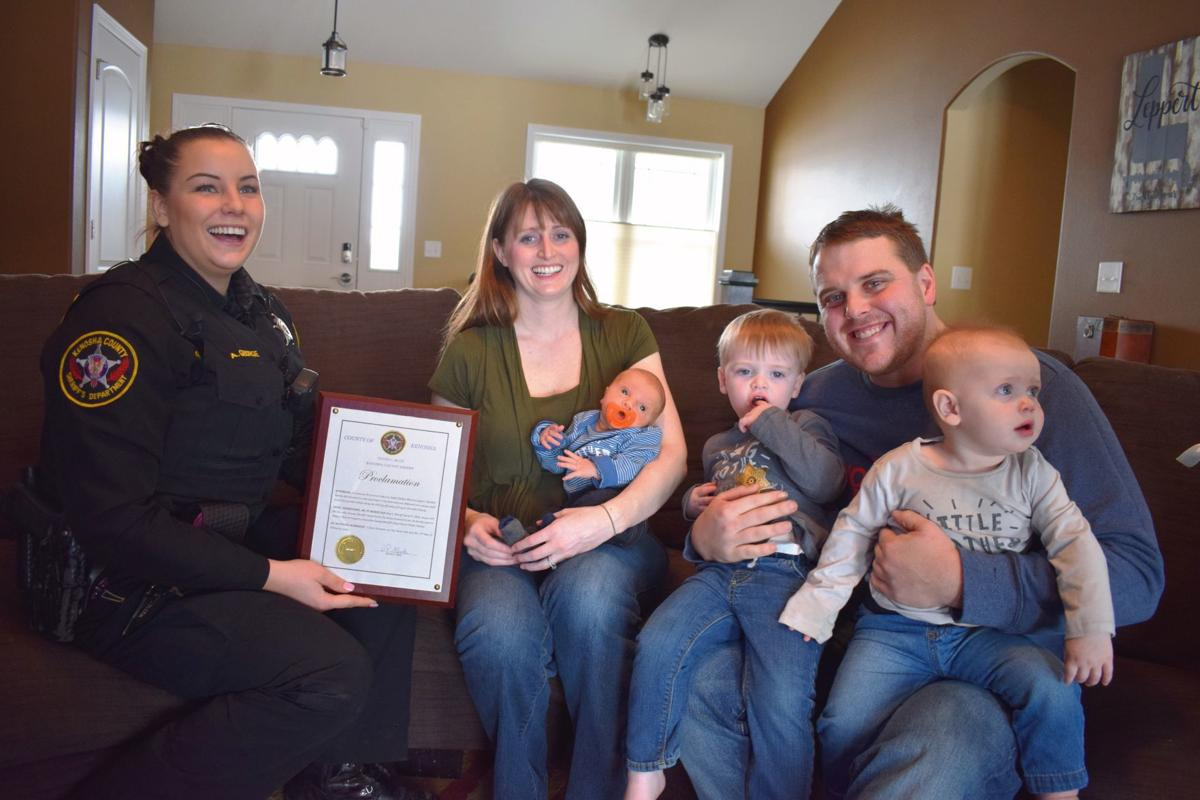 Deputy Allison George and the Lepperts