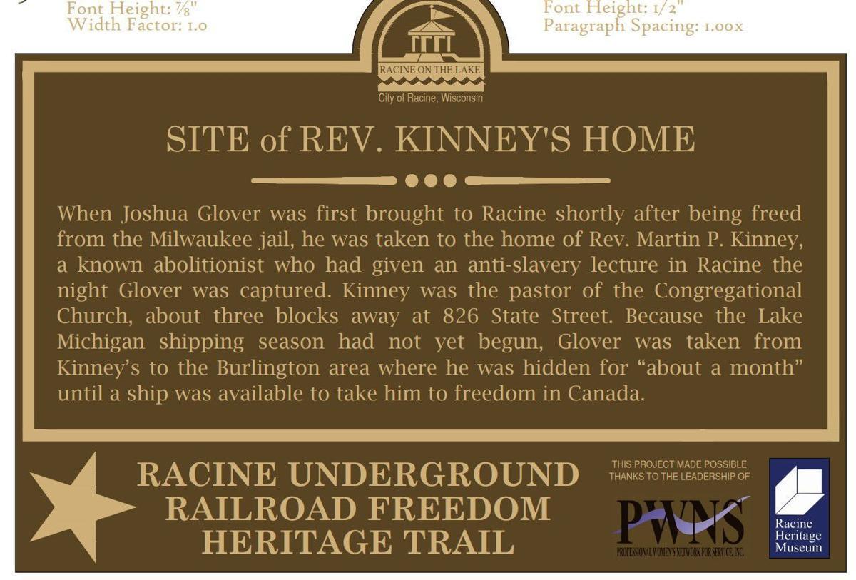 Reverend Kinney's house marker
