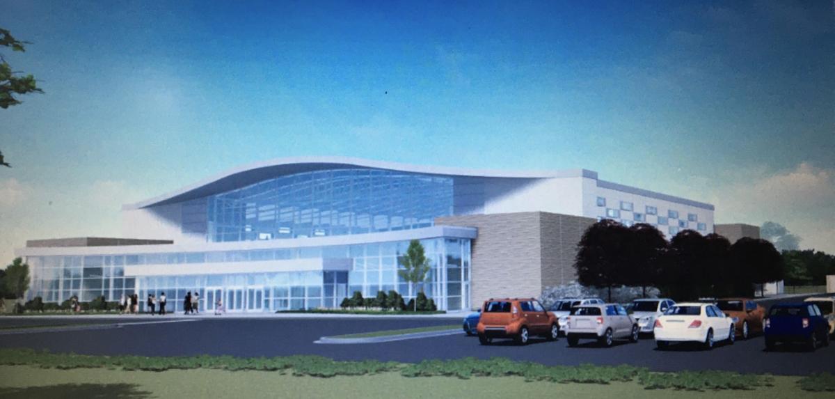 Architectural Rendering RUSD indoor aquatic facility