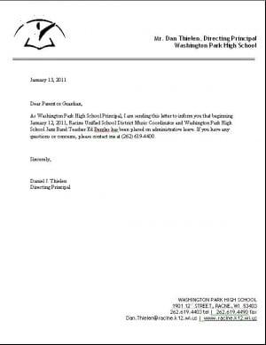 Administrative leave letter dolapgnetband park high jazz band teacher ed bergles on administrative leave administrative leave letter altavistaventures Gallery