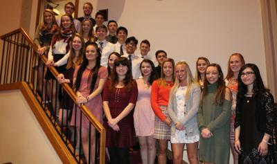St. Catherine's High School National Honor Society members