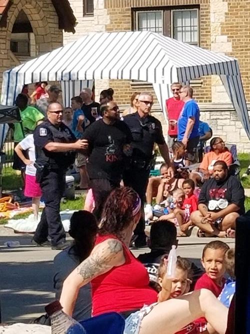 Demonstrator arrested during Fourth Fest