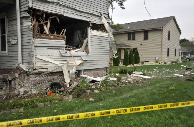 House Cement Truck Accident