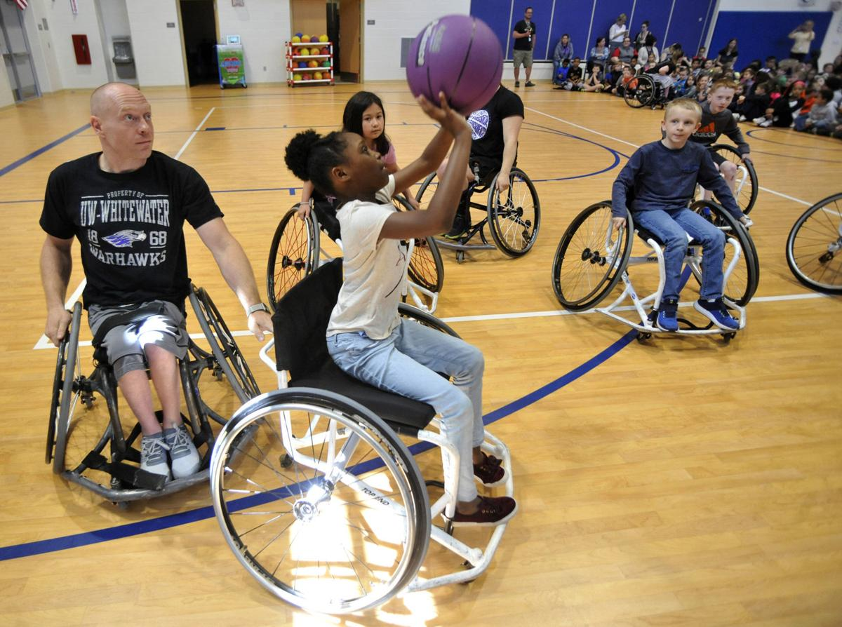 Wheelchair basketball assembly