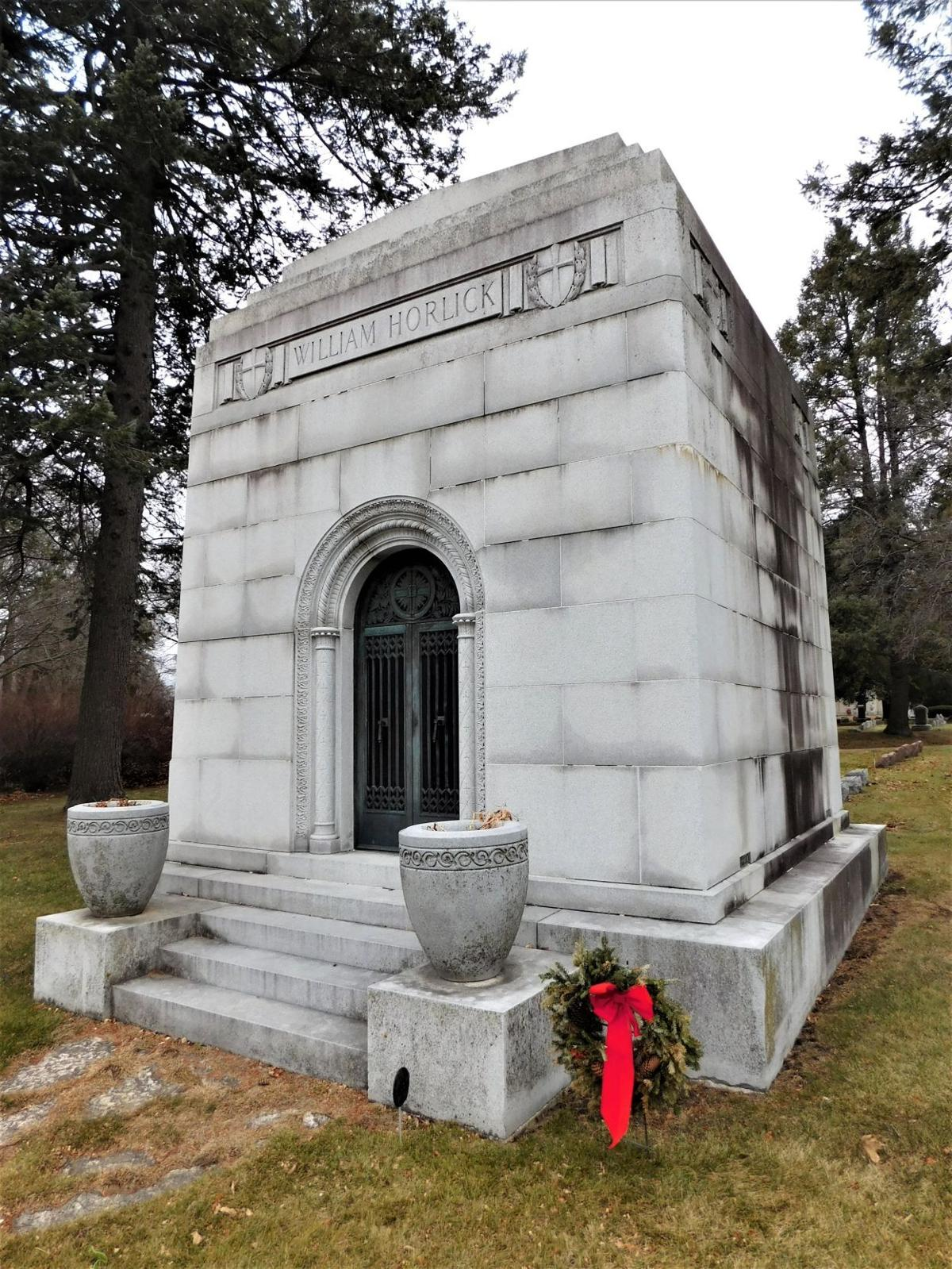 Horlick Mausoleum at Mound Cemetery, Racine